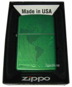 世界地図が描かれたアイスド・ワールドZIPPO