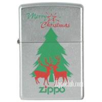 メリー・クリスマス・ストリート・クロム・ジッポー Merry Christmas Zippo