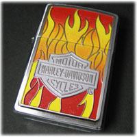 ハーレーダビッドソン・フレームス・エンブレム・ジッポー H-D Flames Emblem Zippo