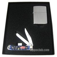 ハイ・ポリッシュ・ライター&ケース・ナイフ・ギフトセット High Polish Lighter & Case Knife Gift Set