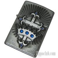 クラウン&クロス・エンブレム・ジッポー Crown and Cross Emblem