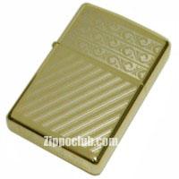 ゴールドプレーテッド ストライプ&フラワーズ ZIPPO