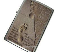 フートプリント・イン・サンド・ジッポーライター Footprint in Sand