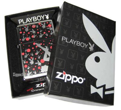 プレイボーイ・クラウン-スタンプンド・ジッポー Playboy Crown-Stamped Zippo