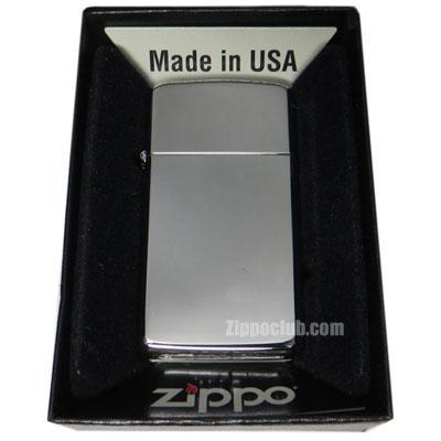 スリム・ハイ・ポリッシュ・クロム - Zippo Slim High Polish Chrome