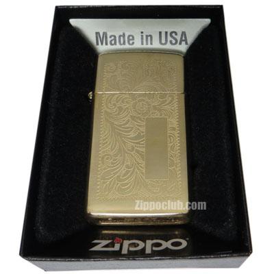 スリム・べネチアン・ブラス - Zippo Slim Venetian Brass