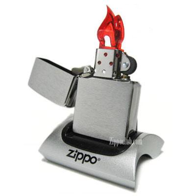 ZIPPO ブラッシュド・クロム・ジッポーライター Brushed Chrome