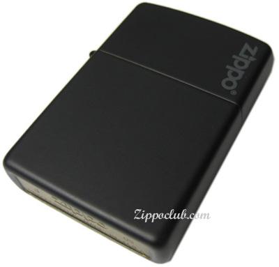 ブラック・マット・ウィズ・ジッポー・ロゴ Black Matte w/Zippo Logo