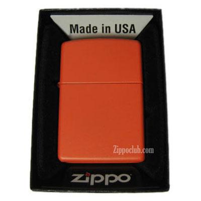 オレンジ・マット・ジッポー Orange Matte Zippo