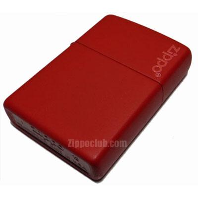 レッドマット・ウィズ・ジッポーロゴ Red Matte w/Zippo Logo