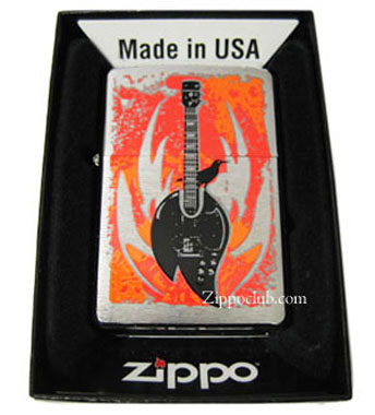 フレーム・ギター・ジッポーライター FLAMGTR Zippo