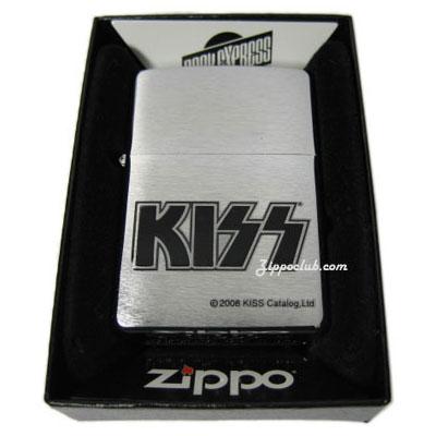 KISSブラッシュド・クロム・ジッポー KISS Brushed Chrome Zippo