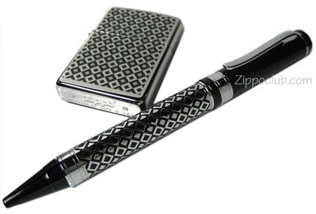 ブラック・パターン・ライター&ペン・ギフトセット Black Pattern Lighter & Pen Gift Set