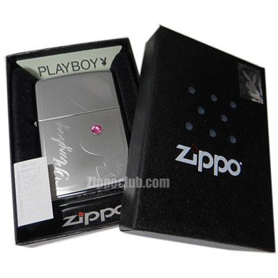 プレイボーイ・ウィズ・ピンクストーン・ジッポー Playboy w/Pink Stone Zippo