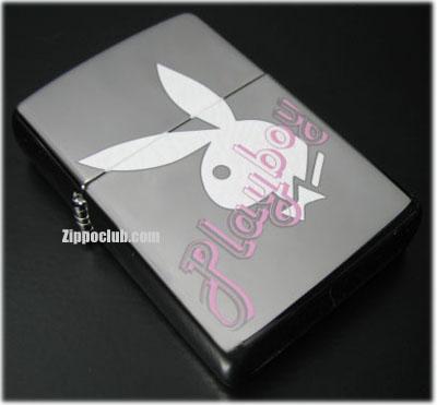 プレイボーイ・ホワイト・ジッポー Playboy White Zippo