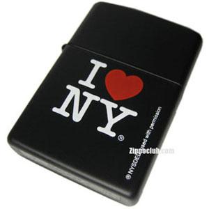 アイ・ラブ・ニューヨーク・ブラックマット・ジッポー I Love NY Black Matte