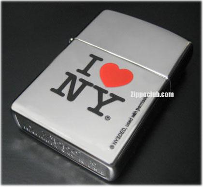 アイ・ラブ・ニューヨーク・ハイポリッシュクロム・ジッポー I Love NY High Polish Chrome Zippo