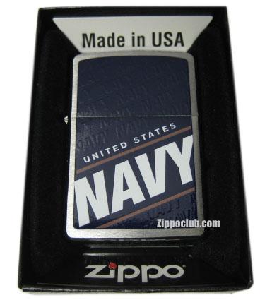 U.S.ネイビー・ブラッシュド・クロム・ジッポーライター US Navy Zippo