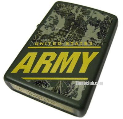 .S.アーミー・グリーンマット・ジッポーライター U.S. Army Green Matte