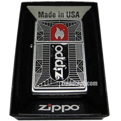 ジッポー・ブラック/レッド・エンブレム  Zippo Blk/Red Emblem