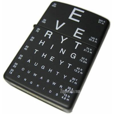 アイ・チャート・ジッポー Eye Charts Zippo