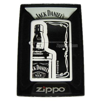 ジャックダニエル・ホワイトマット - Zippo Jack Daniel's White Matte