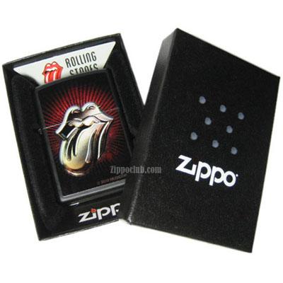 ローリング・ストーンズ・ブラックマット・ジッポーライター Rolling Stones Black Matte Zippo