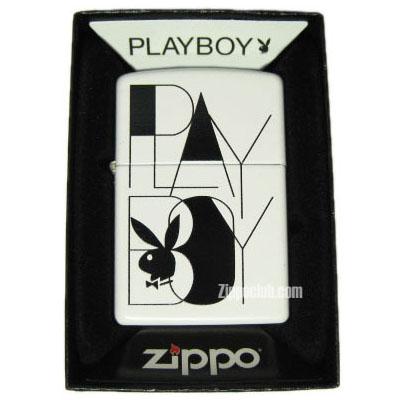 プレイボーイ・ブラック・ホワイト - Zippo Playboy Black White