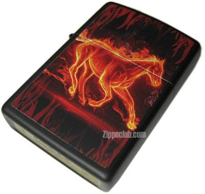 ホース・フレーミング・ジッポーライター Horse Flaming Zippo