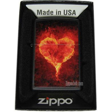 ハート・フレイミング・ジッポー Heart Flaming Zippo