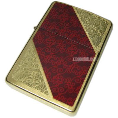 ラグジュアリー3 ブラッシュド・ブラス・ジッポーライター Luxury 3 Brushed Brass Zippo