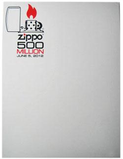 ジッポーライター製造5億個達成の記念ZIPPO