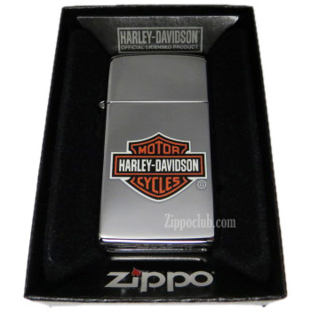 ハーレーダビッドソン・ロゴ・スリム・ジッポー H-D Logo Slim Zippo