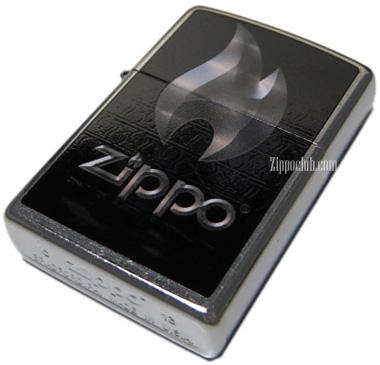 ZIPPOフレーム(炎)を描いたフレーム・ジッポーライター
