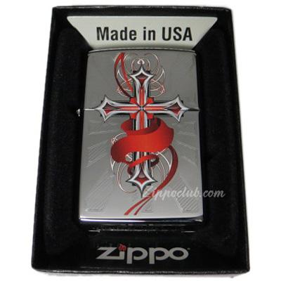 クロス・ウィズ・ウイング - Zippo Cross with Wings