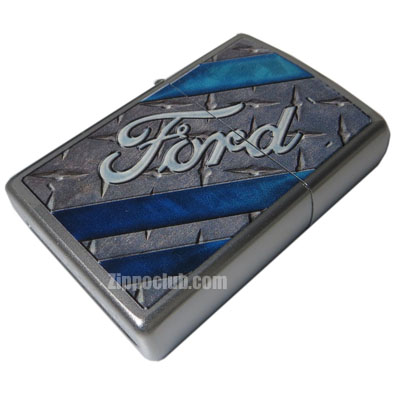 フォード・サテン・クロム - Zippo Ford Satin Chrome