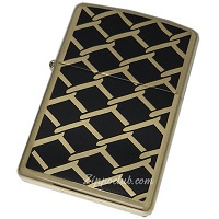 フェンス・デザイン - Zippo Fence Design High Polish Brass