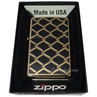 フェンス・デザイン -  Zippo Fence Design High Polish Brass
