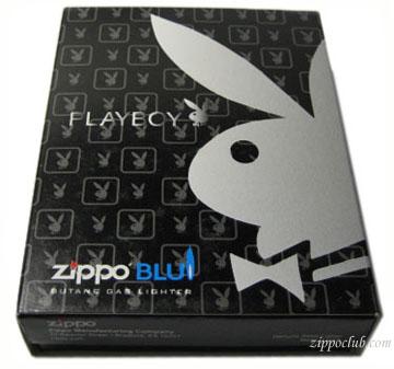 ジッポーブルー・プレイボーイ・ヘリンボーン Zippo BLU Playboy Herringbone