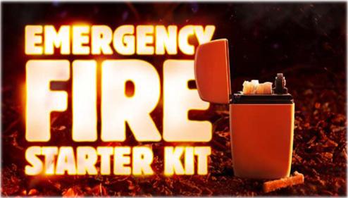 エマージェンシー・ファイヤー・スターター・キット・グリーンマット Emergency Fire Starter Kit Green