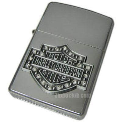 ハーレーダビッドソン・バー&シールド・クリスタル・ジッポー H-D Bar&Shield Crystal