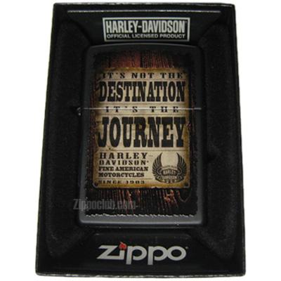 レトロな広告が描かれたハーレーダビッドソンのZIPPO